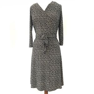 Nine West Black & White Tie Front Sheath Dress